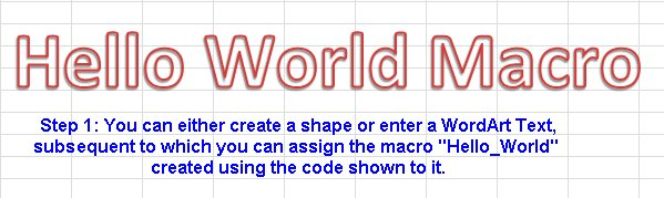 Hello World Macro Step 1