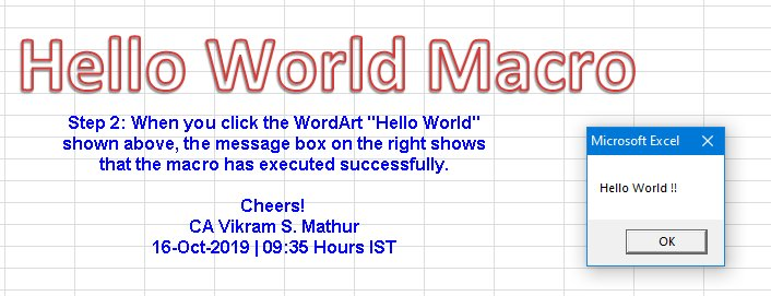 Hello World Macro Step 2